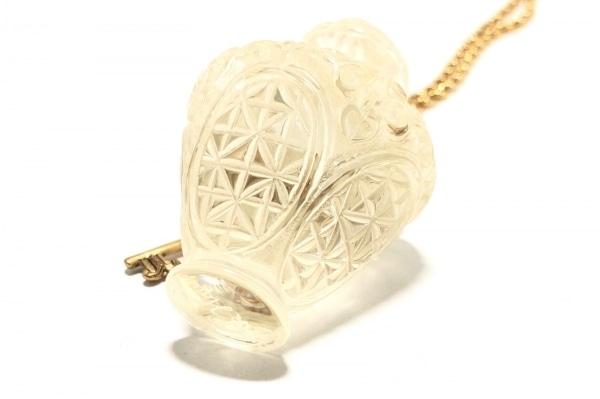 ピンクハウス ネックレス 金属素材×プラスチック ゴールド×クリア 鍵/香水瓶