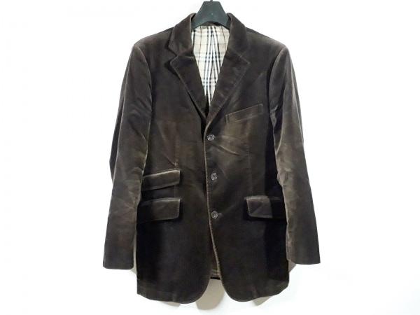 バーバリーブラックレーベル ジャケット サイズS メンズ ダークブラウン ベロア