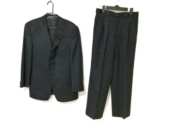 BARNEYSNEWYORK(バーニーズ) シングルスーツ メンズ 黒 肩パッド/ネーム刺繍
