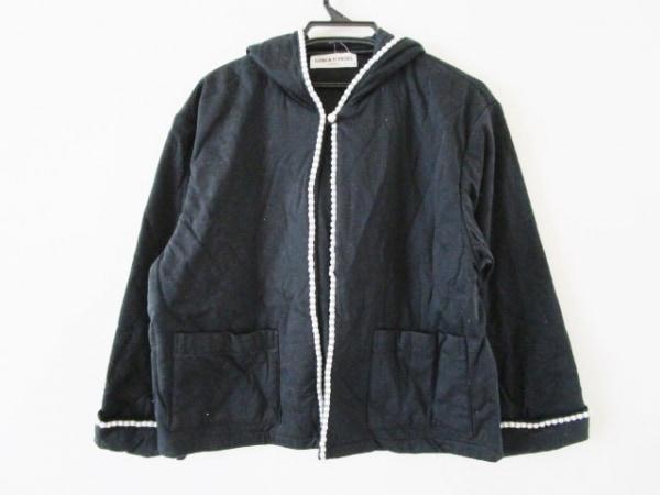 ソニアリキエル ブルゾン サイズM レディース 黒×白 春・秋物/フェイクパール