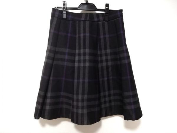 バーバリーロンドン スカート サイズ40 L レディース美品  チェック柄