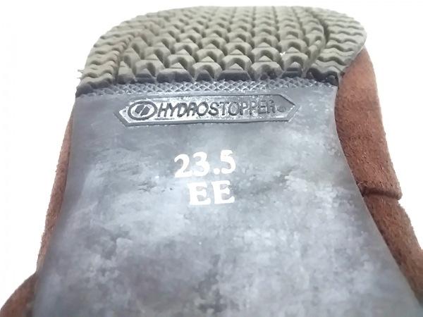 ハッシュパピーズ ロングブーツ 23.5 EE レディース ダークブラウン スエード