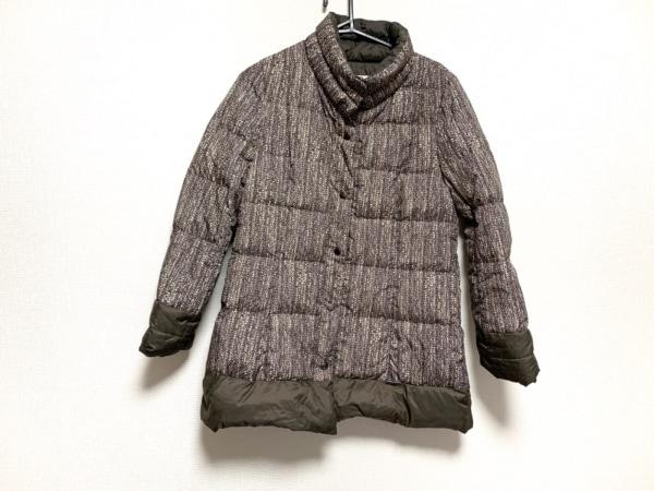 CECIOUCELA(セシオセラ) ダウンコート サイズ38 M レディース ダークブラウン×白×黒