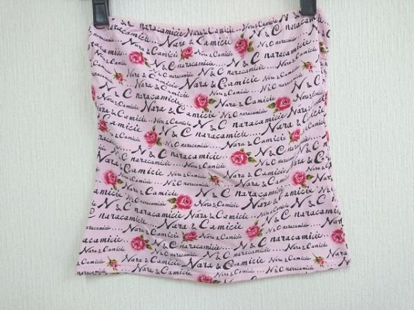 ナラカミーチェ ベアトップ サイズ1 S レディース美品  ピンク×レッド×マルチ 花柄