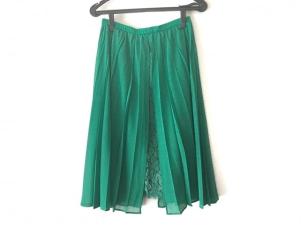 AULA(アウラ) スカート サイズ1 S レディース美品  グリーン レース