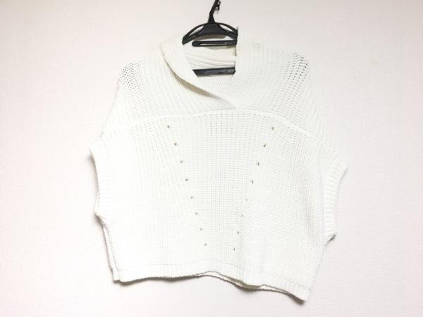 AULA(アウラ) ノースリーブセーター サイズ0 XS レディース美品  アイボリー