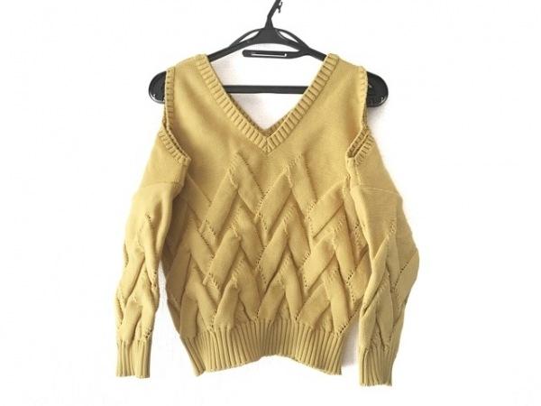 AULA(アウラ) 半袖セーター サイズ0 XS レディース美品  イエロー
