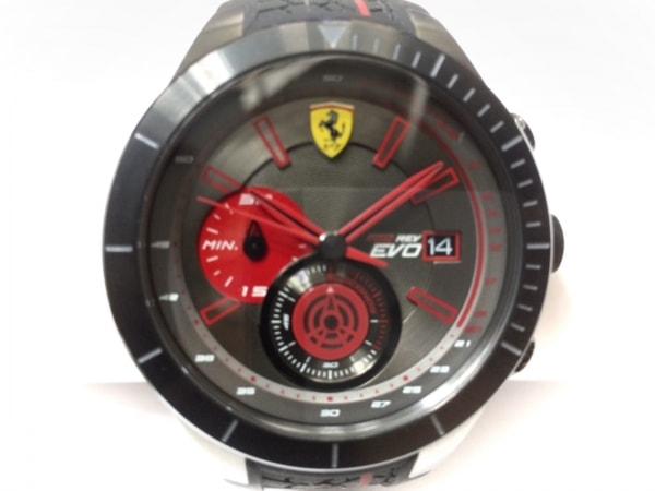 Ferrari(フェラーリ) 腕時計 SF.25.1.34.0284 メンズ ラバーベルト ダークグレー