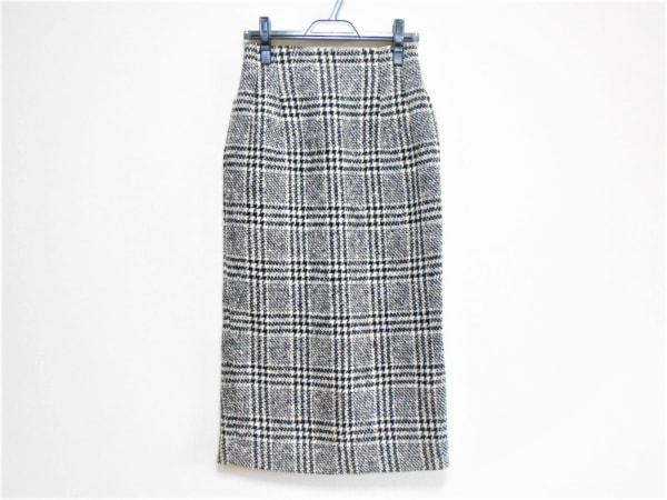 Y's(ワイズ) ロングスカート レディース 黒×白 チェック柄
