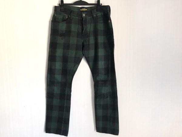 ラルフローレンラグビー パンツ サイズ32 XS メンズ美品  グリーン×ダークグレー