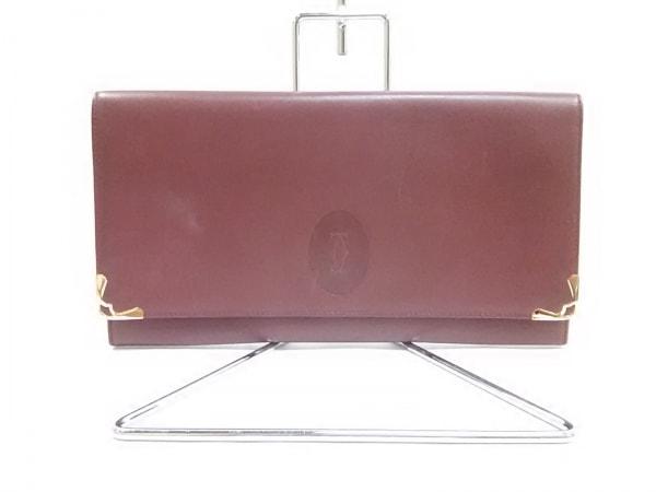 Cartier(カルティエ) クラッチバッグ マストライン ボルドー×ゴールド レザー