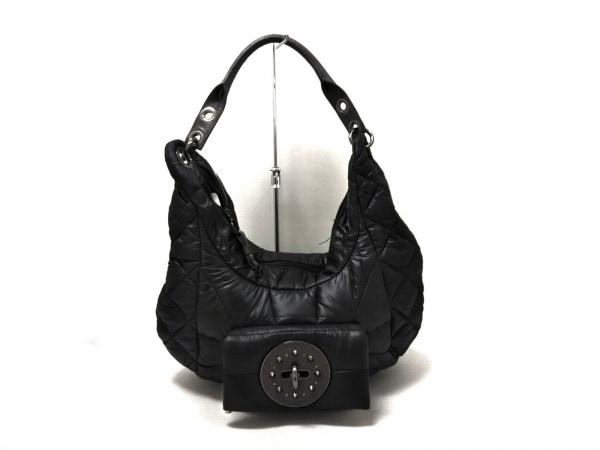 DIESEL(ディーゼル) ショルダーバッグ美品  黒×グレー ナイロン×レザー