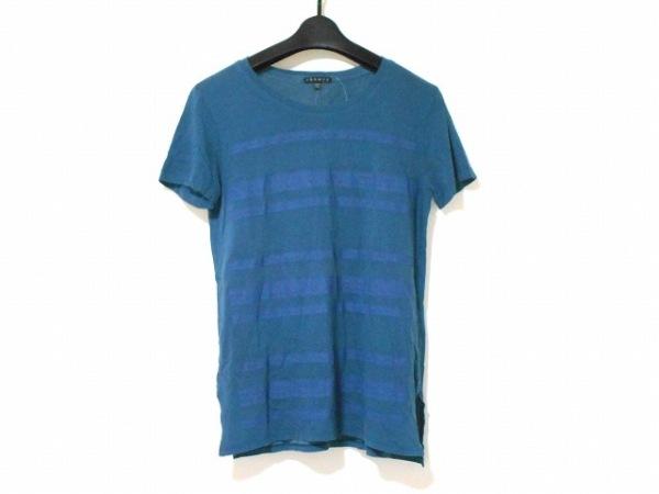 theory(セオリー) 半袖Tシャツ サイズS レディース ネイビー ボーダー