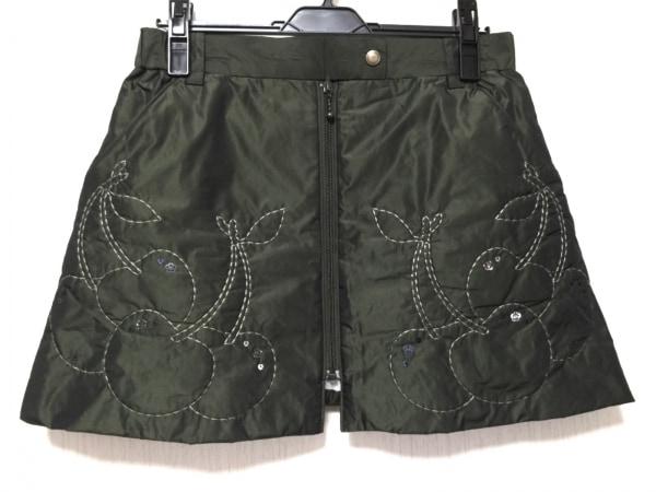 MIEKO UESAKO(ミエコウエサコ) ミニスカート サイズ42 L レディース美品  カーキ
