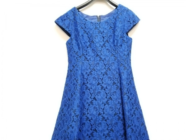 Lois CRAYON(ロイスクレヨン) ワンピース サイズM レディース美品  ブルー×黒 レース