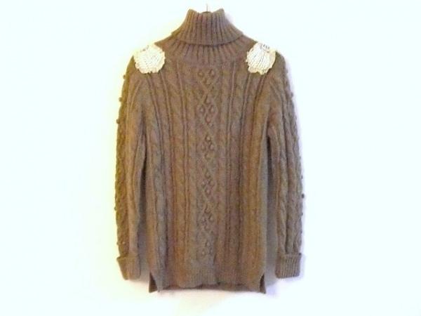 kaon(カオン) 長袖セーター サイズF レディース美品  ライトブラウン×アイボリー