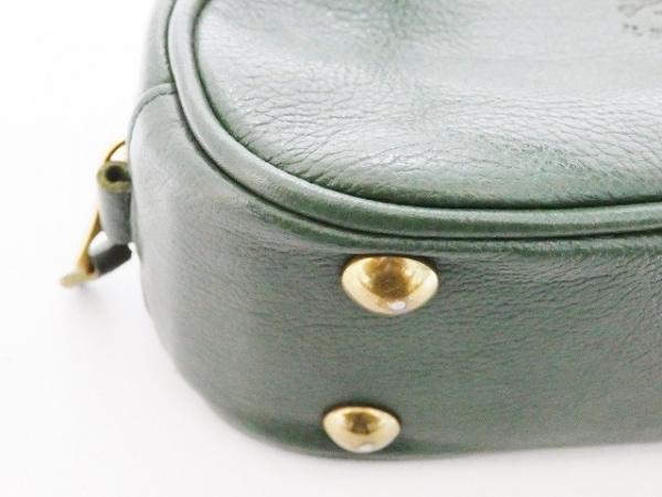 IL BISONTE(イルビゾンテ) ハンドバッグ ダークグリーン ミニサイズ レザー