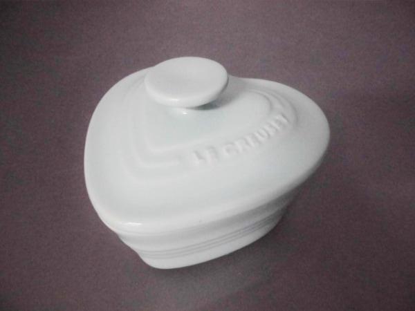 LE CREUSET(ルクルーゼ) 食器新品同様  ライトブルー ココット/ハート 陶器