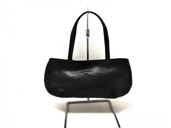 IL BISONTE(イルビゾンテ) ハンドバッグ新品同様  黒 レザー