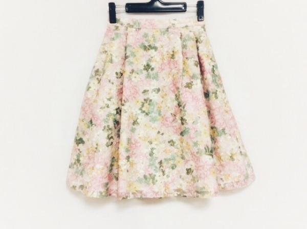 トッカ スカート サイズ0 XS レディース美品  ピンク×グリーン×マルチ 花柄/刺繍