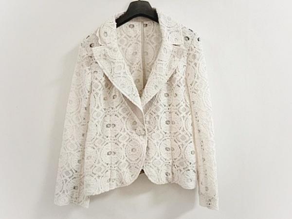 ダーマコレクション ジャケット サイズ9 M レディース美品  アイボリー レース