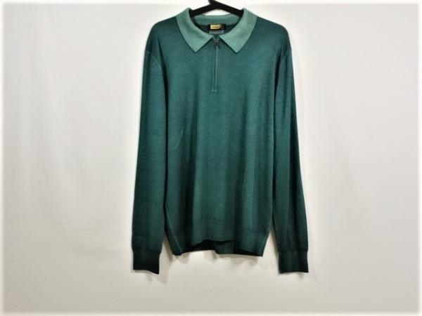 ZILLI(ジリー) 長袖セーター サイズ54 メンズ グリーン カシミヤ/シルク