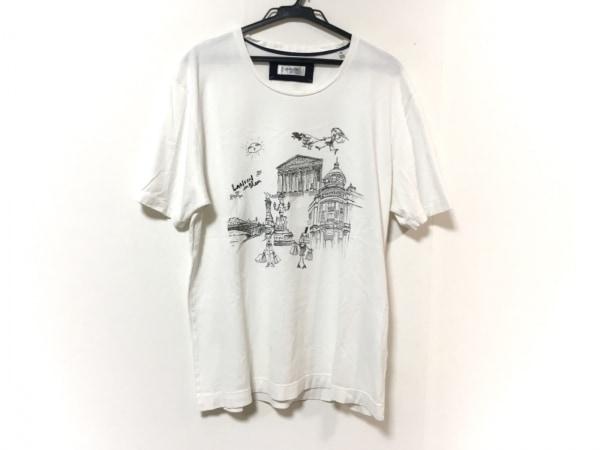 LANVIN en Bleu(ランバンオンブルー) 半袖Tシャツ サイズ50 メンズ 白×黒