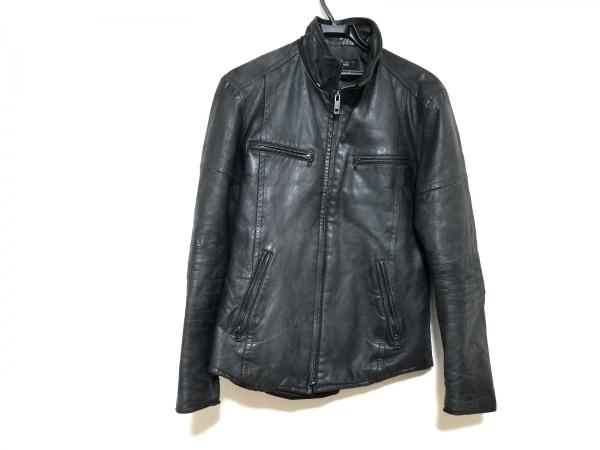 5351 PourLesHomme(5351プールオム) ライダースジャケット サイズ3 L メンズ 黒 冬物