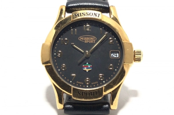 MISSONI SPORT(ミッソーニスポーツ) 腕時計 23 302 レディース 革ベルト 黒