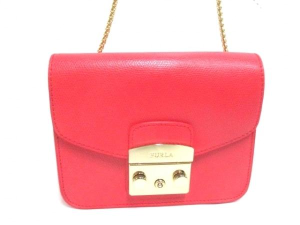 フルラ ショルダーバッグ美品  メトロポリス 884892 ピンク チェーンショルダー