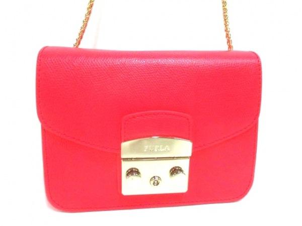 フルラ ショルダーバッグ美品  メトロポリス 884890 ピンク チェーンショルダー