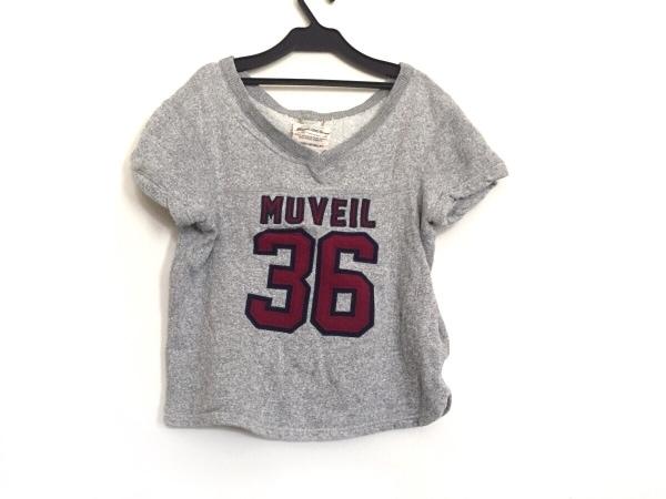 MUVEIL(ミュベール) トレーナー サイズ38 M レディース グレー×ボルドー×ネイビー