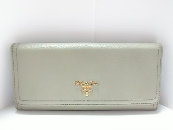 PRADA(プラダ) 長財布 - 1M1132 ライトグレー レザー