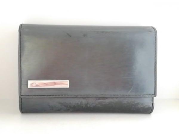 4℃(ヨンドシー) 3つ折り財布 黒 レザー