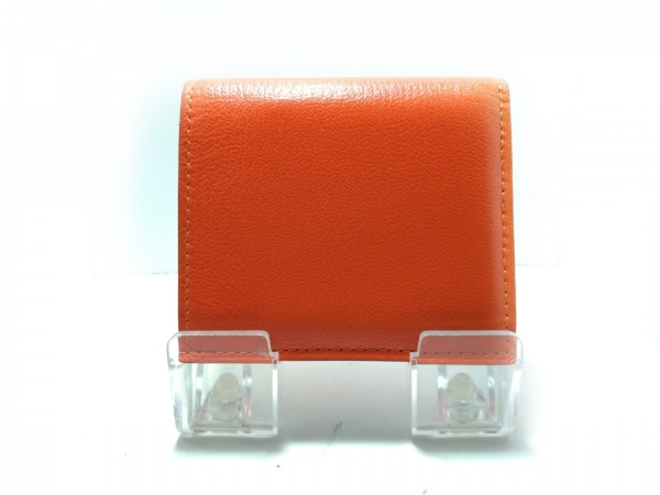 L'arcobaleno(ラルコバレーノ) 2つ折り財布美品  オレンジ レザー