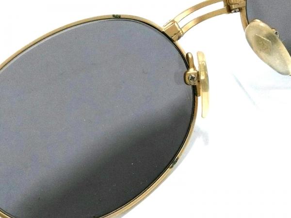 ゴルチエ サングラス ダークグレー×ゴールド×ブラウン プラスチック×金属素材