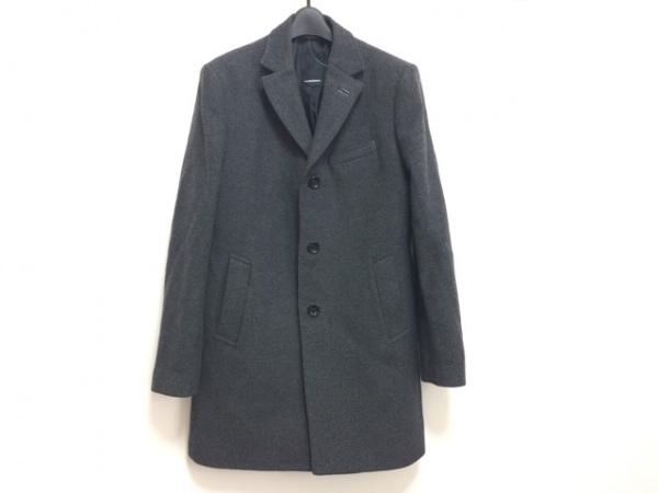 J.LINDEBERG(ジェイリンドバーグ) コート サイズ48 XL メンズ ダークグレー×黒 冬物