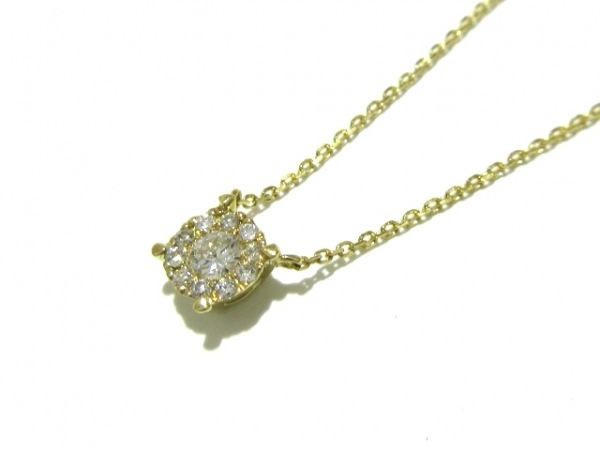 VENDOME(ヴァンドーム青山) ネックレス美品  K18YG×ダイヤモンド 0.13カラット
