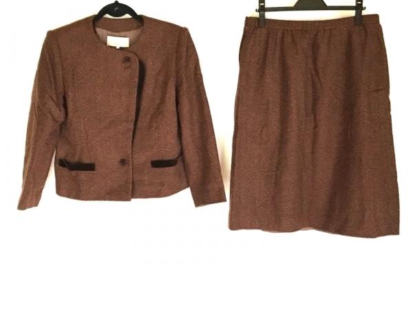 LAPINE(ラピーヌ) スカートスーツ サイズ17 XL レディース ダークブラウン