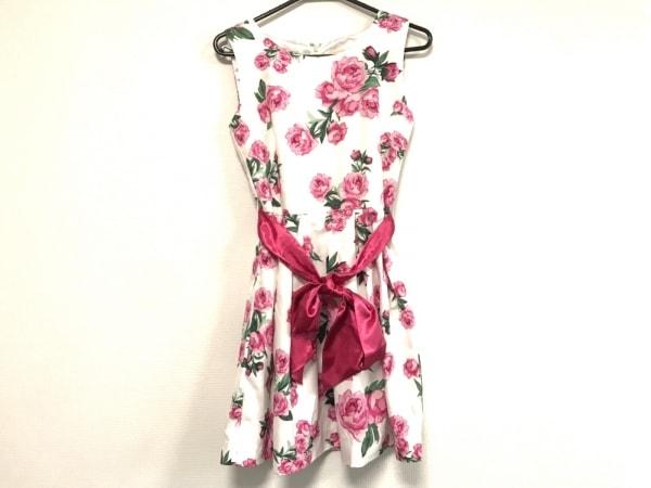 エミリアウィズ ワンピース サイズM レディース美品  白×ピンク×グリーン 花柄
