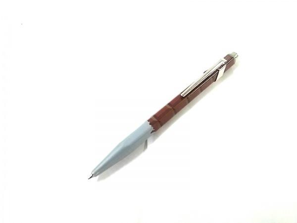 CARAN d'ACHE(カランダッシュ) ボールペン美品  シルバー×ブラウン 金属素材