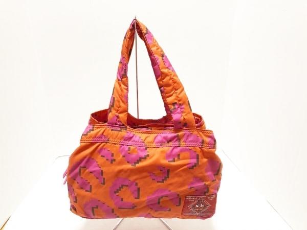 ヴィヴィアンウエストウッド ハンドバッグ オレンジ×ピンク×黒 ナイロン