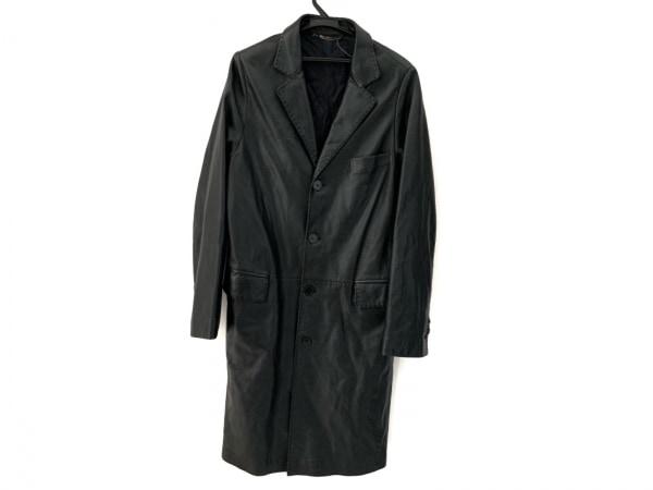 VERSACE CLASSIC(ヴェルサーチクラシック) コート サイズ50 メンズ 黒 冬物/レザー