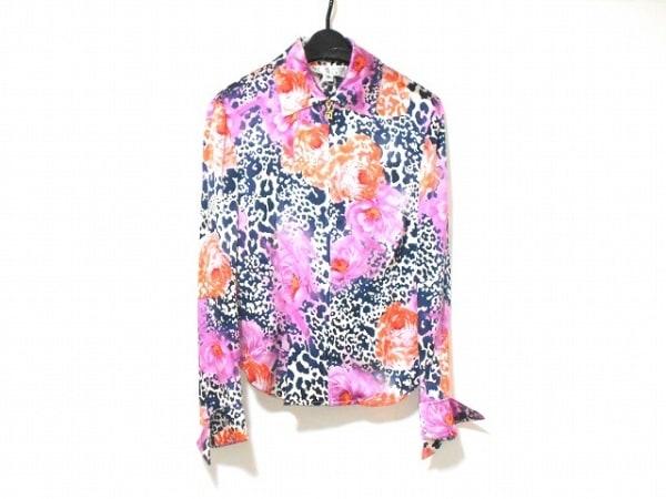 セントジョン 半袖シャツブラウス サイズ2 M レディース美品  ジップアップ/花柄