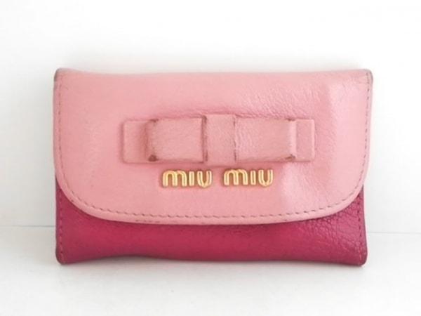 miumiu(ミュウミュウ) キーケース - 5M0222 ピンクベージュ 6連フック レザー