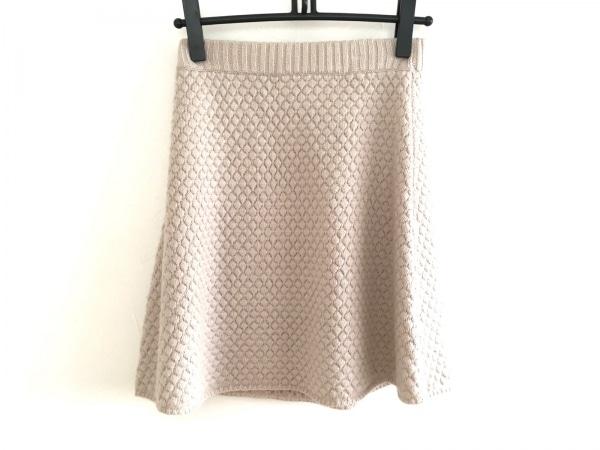 three dots(スリードッツ) スカート レディース美品  アイボリー ニット