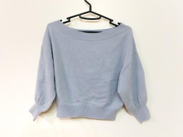 snidel(スナイデル) 長袖セーター サイズF レディース美品  ライトブルー ショート丈