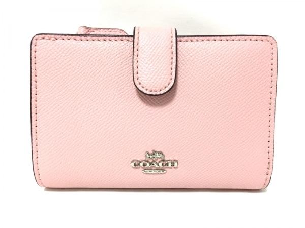 COACH(コーチ) 2つ折り財布 - ピンク レザー
