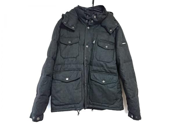 ハケット ダウンジャケット サイズXL メンズ美品  ダークグレー ジップアップ/冬物