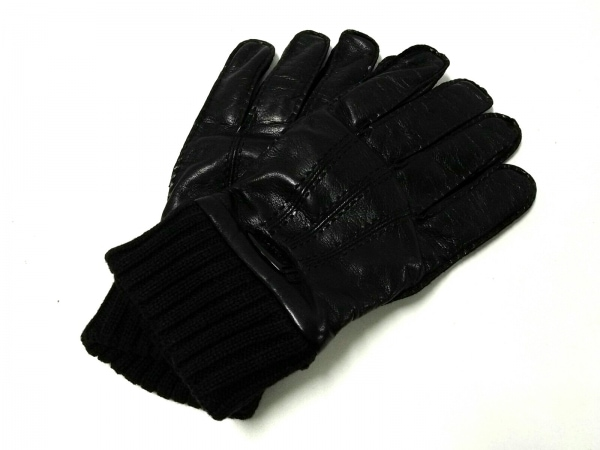 RICHMOND(リッチモンド) 手袋 メンズ 黒 レザー×ウール